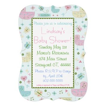 Little Buggy Baby Shower Invitations