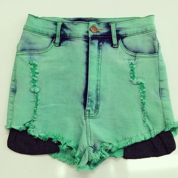 Mint High waist Shorts from shopoceansoul