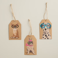 Pets with Neon Glasses Kraft Gift Tags, Set of 6 - World Market