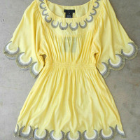 Embroidered Jaune Boheme Tunic [2783] - $24.30 : Vintage Inspired Clothing &amp; Affordable Summer Dresses, deloom | Modern. Vintage. Crafted.