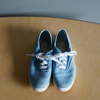 80s Etienne Aigner Denim Chambray Flat Tennis Shoes 6 1/2