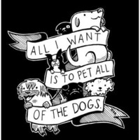 Silver Sprocket Store:  All I Want Is To Pet All Of The Dogs - Nation Of Amanda - Sticker - PRE-ORDER - Nation Of Amanda