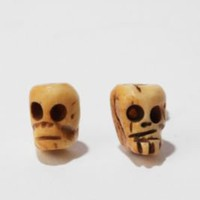 Day of the Dead Skull Post Earring