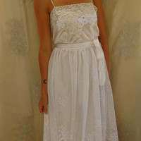 Elka Wedding Gown... bohemian slip dress whimsical woodland free people lace shabby country chic fairy