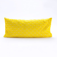 Small Origami Throw Pillow Cover in Yellow