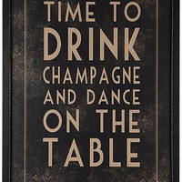 &#x27;time to drink champagne&#x27; print by the contemporary home | notonthehighstreet.com