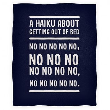 A Haiku About Getting Out Of Bed