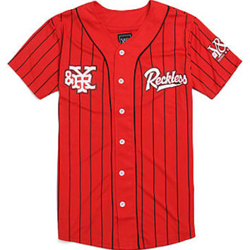 Young   Reckless Reckless Grand Slam Jersey  Mens Tee  Red -