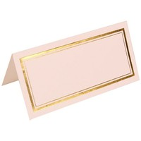 JAM Paper® - White with Gold Double Border Foldover Place Cards 2 x 4 1/2 - 100 cards per pack