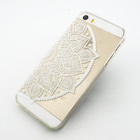 H12 - Case for Apple Iphone 5C -  Henna Ethnic Lotus Mandala