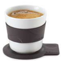 Desa Cappuccino Cup with Silicon Coaster and Grip by Blomus 63423 - Pure Modern Design Contemporary Kitchen Accessories