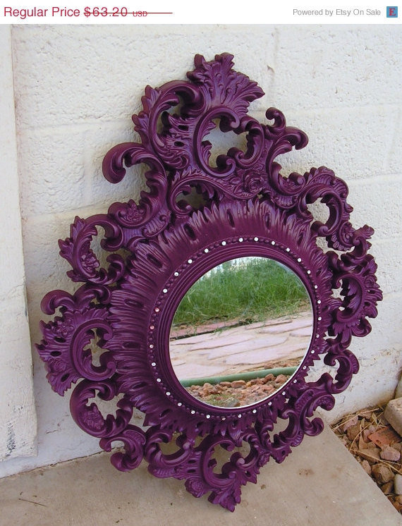 Now on Sale Vintage Ornate Bohemian Boho Chic Wall Mirror /  Hollywood Regency Ornate Decorative Wall Hanging