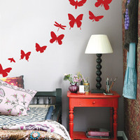 Butterflies Wall Sticker with Wall Scraper by Ferm Living - Pure Modern Design Lifestyle Objects