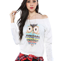 Papaya Clothing Online :: CUTY OWL GRAPHIC TOP