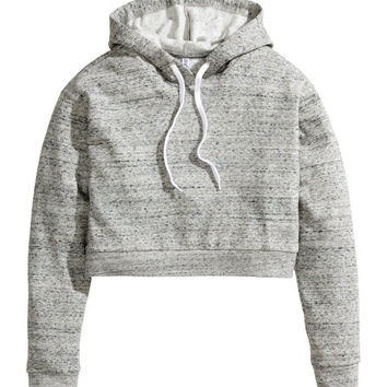 Short Hooded Sweatshirt  from H M
