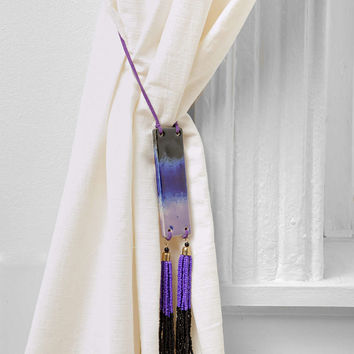 Magical Thinking Fringe Curtain Tie-Back- Purple One Size- Purple One
