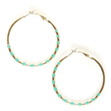 Cute Hoop Earrings - Gold Earrings - $11.00