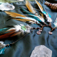 desert tribe... feather ear cuff