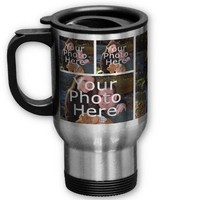 Photo Travel Mugs - Personalized 7 Pic Collage from Zazzle.com