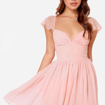 LULUS Exclusive Belle of the Ball Peach Dress