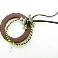 soft leather necklace men leather necklace, women leather necklace   XL111