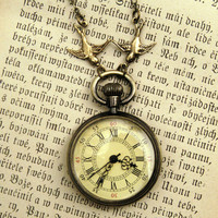 Brass Pocket Watch Necklace number 10