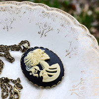 Lolita Skull Cameo Necklace