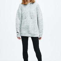 Sparkle & Fade Injected Quilt Hoodie in Grey - Urban Outfitters