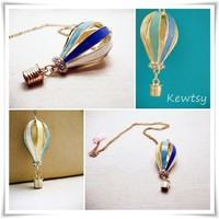 Up & Away Hot Air Balloon Necklace