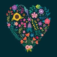 Floral Heart Art Print by Anna Deegan | Society6
