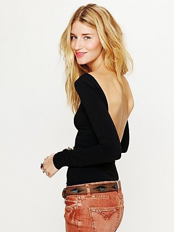 Free People Solid Low Back Top
