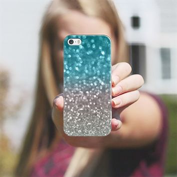 Aqua and Gray iPhone 5s case by Lisa Argyropoulos | Casetify