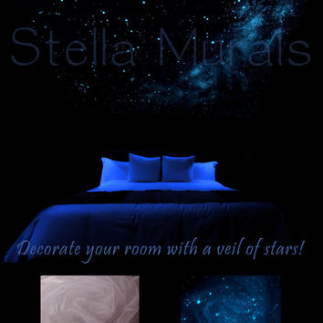 """Glow in the Dark Star Ceiling Canopy – White – The Southern Cross – 5'10"""" x…"""