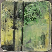 Forest Stroll-  -small original  painting.