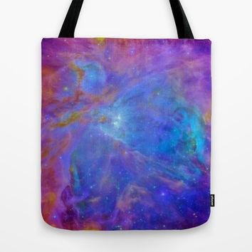 Orion Nebula Cool Blues & Lavenders Tote Bag by 2sweet4words Designs | Society6