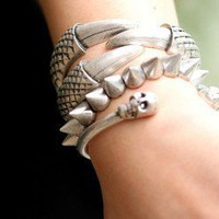 Tiger Claws Fashion Statement Bangle (Silver)  | LilyFair Jewelry