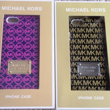 NEW MICHAEL KORS GOLD PINK MK BLACK POLKA DOTS IPHONE 5