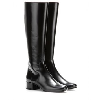 saint laurent - babies leather knee boots