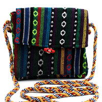 woven-southwest-satchel GREENMULTI - GoJane.com