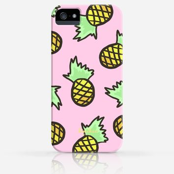 Cute Blue or Pink Pineapple Pattern Summer iPhone 4/4s iPhone 5/5s Case