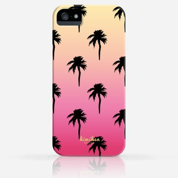 Palm Tree Pattern Summer Gradient Color iPhone 4/4s iPhone 5/5s Case