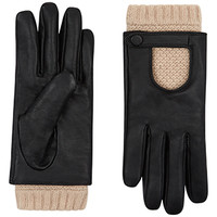 Leather And Knit Driving Glove | Multi | Accessorize