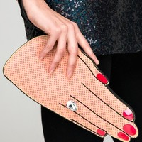 Finger clutch with diamond