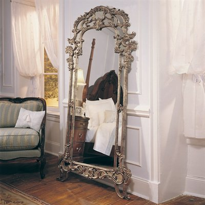 American Drew 721-065 Jessica McClintock Home Floor Mirror, Heirloom - Decor Universe