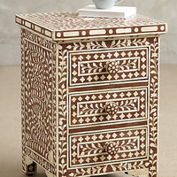 Bone Inlay Nightstand by Anthropologie Brown One Size Furniture