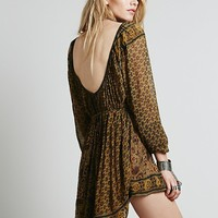 Free People Womens Crosstown Patterns Tunic - Golden Wheat,