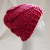 Spiral Hat / Red / Alpaca