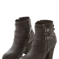 ModCloth Urban Three-Band Bill Bootie