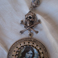 Death or Diamonds, Victorian Medallion Necklace
