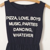 Pizza Boys Whatever Skater Dress from Now and Again Co.